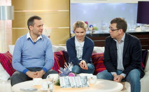 Michał Żebrowski, Magdalena Strużyńska i Maciej Orłoś (fot.Agencja Forum)