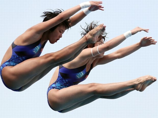Chen Ruolin i Wang Hao (fot. Getty Images)