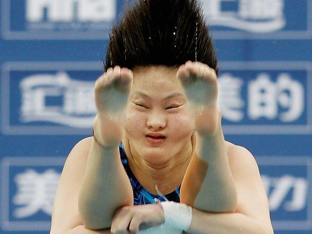 Chinki są bezkonkurencyjne w skokach do wody (fot. Getty)