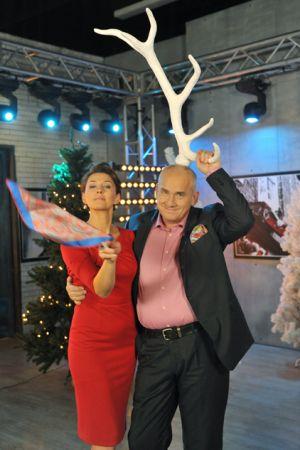 Michał Olszański i Anna Popek również dobrze się bawili (fot. Ireneusz Sobieszczuk/TVP)
