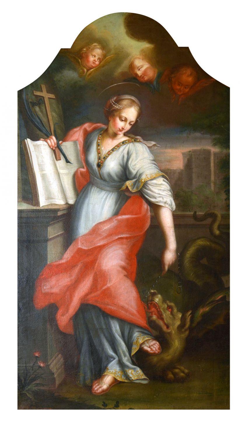 Johann Heinrich Kynast, Św. Małgorzata, lata 50. XVIII wieku.  Parafia rzymskokatolicka pw. Chrystusa Króla w Nowym Świętowie