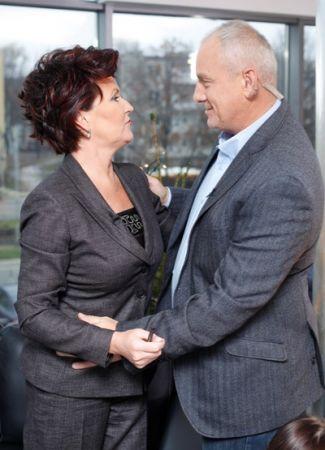 Jolanta Kwaśniewska i Michał Olszański (fot.Agencja Forum)