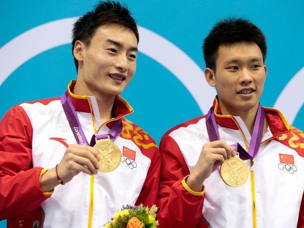 Kai Qin i Yutong Luo zdobyli czwarte złoto dla Chin w skokach do wody (fot. Getty Images)