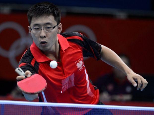 Wang Zeng Yi odpadł z igrzysk w Londynie już w drugiej rundzie (fot. PAP/EPA)