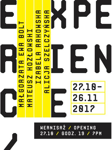 Experience/ Wystawa studentów Intermediów Akademii Sztuk pięknych w Gdańsku. Pracownia dra Jarosława Czarneckiego