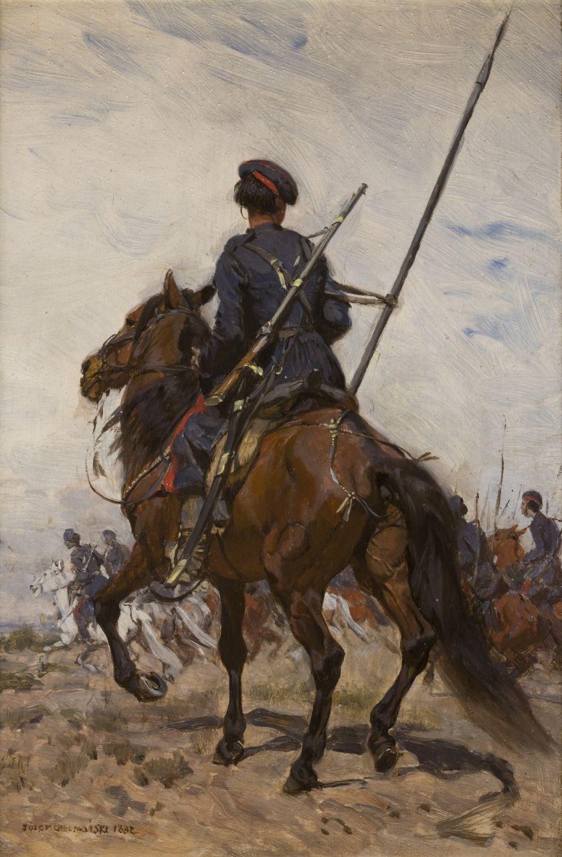 Józef Chełmoński Kozak 1882 ze zbiorów Muzeum Narodowego w Krakowie