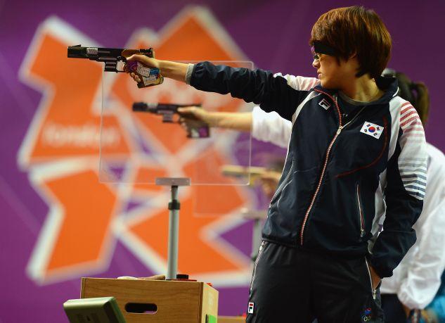Jangmi Kim zwyciężyła w pistolecie sportowym (fot. Getty)