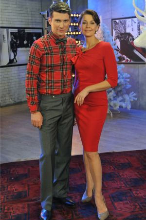 """Anna Popek i Tomasz Kammel w studiu """"Pytania na śniadanie"""" (fot. Ireneusz Sobieszczuk/TVP)"""