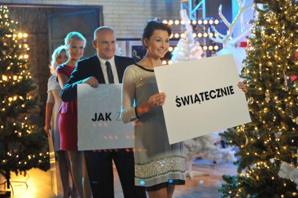 Tym razem wszyscy gospodarze programu skoncentrowali się jedynie na tematyce świątecznej (fot. Ireneusz Sobieszczuk/TVP)