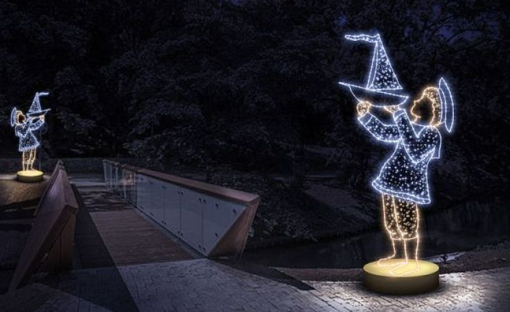 Dekoracje świetlne zostaną rozstawione na trasie spacerowej wzdłuż Łyny (fot. olsztyn.eu)