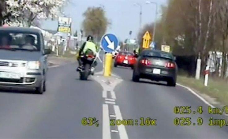 Szaleńcza pogoń za motocyklistą. (mat.. KMP Toruń)
