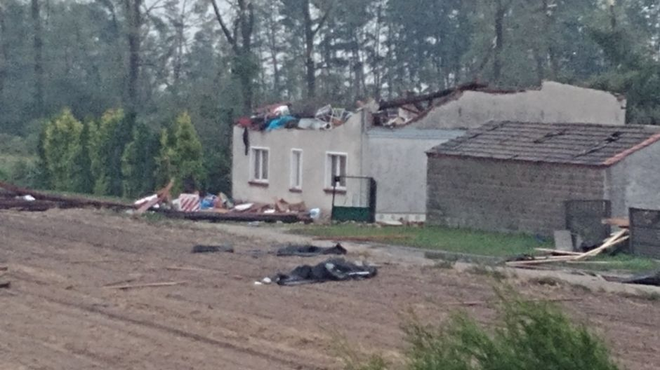 Ogromne zniszczenia na Kujawach (fot.Twoje Info/Wojciech)