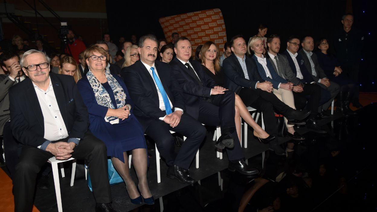 Goście honorowi konferencji prasowej  (fot. Ireneusz Sobieszczuk)