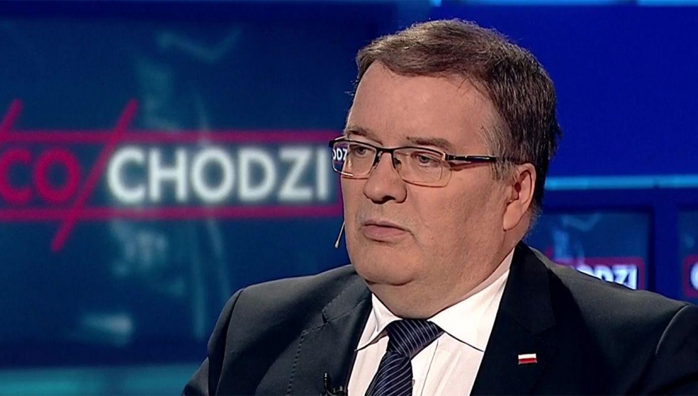 Minister Andrzej Dera (fot. TVP Info)