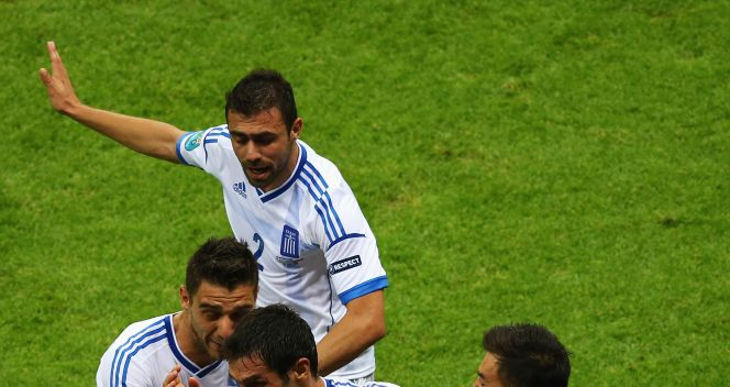 Szał radości piłkarzy greckich (fot. Getty Images)