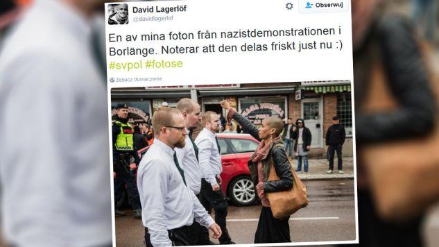 – Żadnych nazistów na ulicy, to nie w porządku – tłumaczyła kobieta (fot. twitter.com)