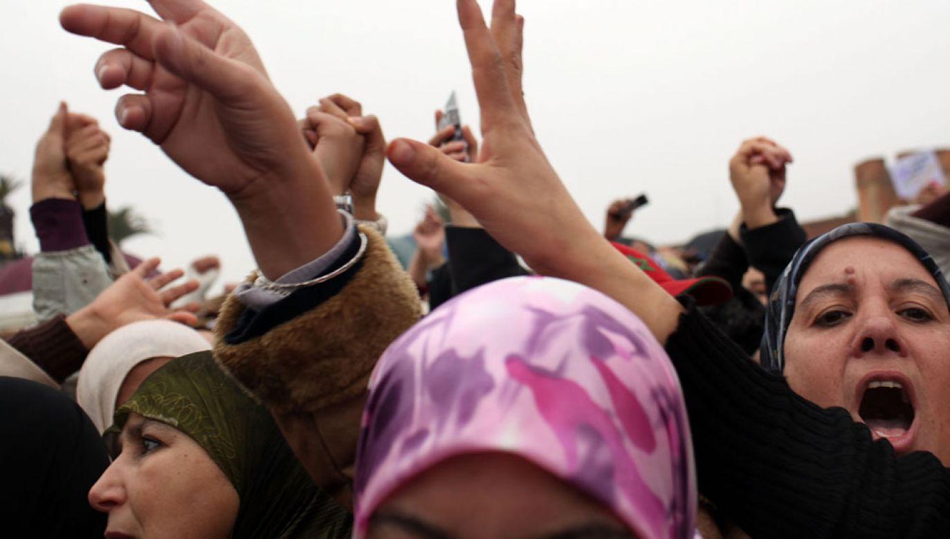 Tłum stratował kilkanaście osób podczas rozdawana żywności w Maroku (fot. Spencer Platt/Getty Images)