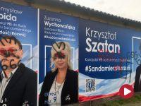 """""""666"""" i swastyki. Zdewastowano plakaty kandydatów PiS w Sandomierzu"""