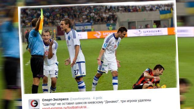 Atmosfera podczas meczu była gorąca (fot. twitter.com/sportexpress)