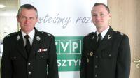 Grzegorz Matczyński (Wojewódzki Oddział Związku OSP) i Paweł Zapadka (OSP W Gutkowie).