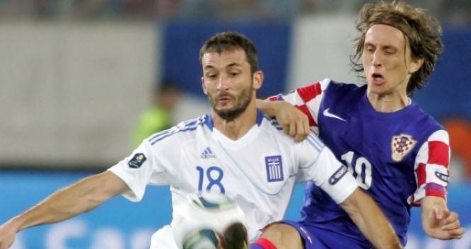 Luka Modrić podczas meczu z Grecją (fot. Getty Images)