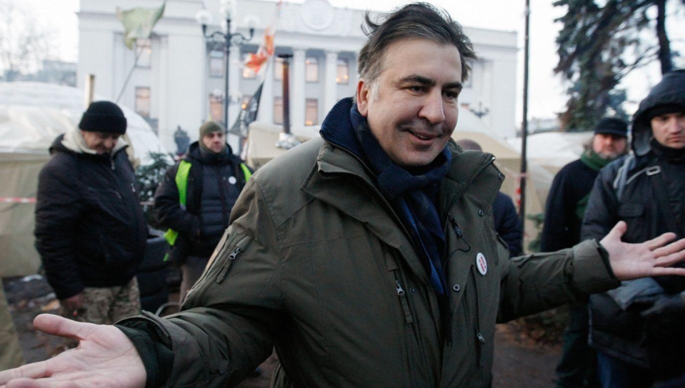 Były prezydent Gruzji i przywódca opozycyjnej ukraińskiej partii Ruch Nowych Sił Micheil Saakaszwili został zatrzymany (fot.  PAP/EPA/STEPAN FRANKO)