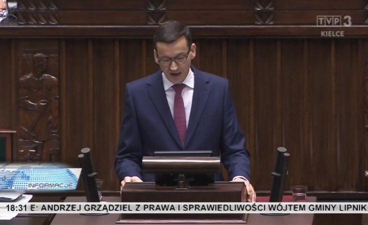 Komentarze po ekspose premiera Morawieckiego