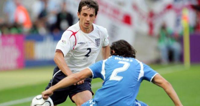 Gary Neville - jeden z najlepszych obrońców Anglików, ma na swoim koncie ponad 80 meczów w kadrze (fot. Getty Images)