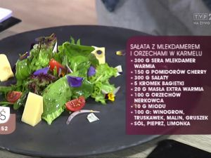 Sałata z Mlekdamerem i orzechami