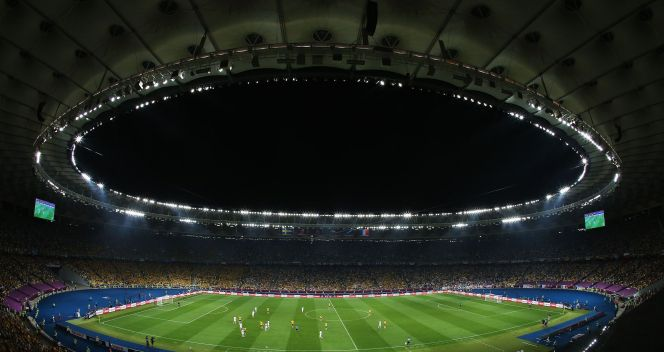 Panorama stadionu w Kijowie (fot. Getty)