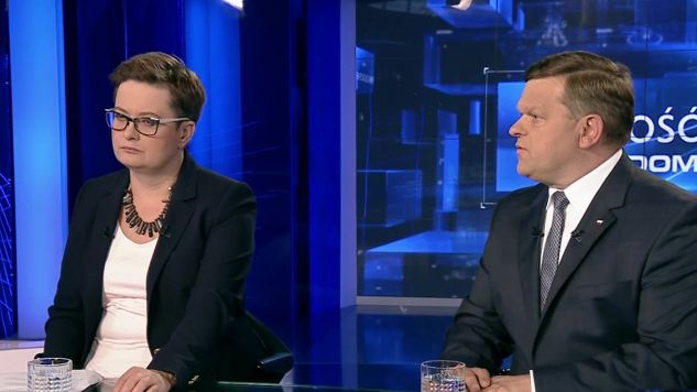 Katarzyna Lubnauer i Wojciech Skórkiewicz rozmawiali o reformie sądownictwa (fot. TVP Info)