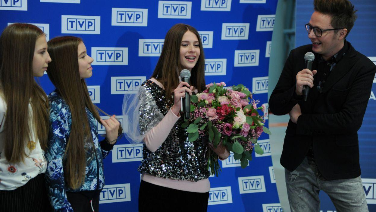 Wokalistka podziękowała za tak gorące powitanie... (fot. N. Młudzik/TVP)