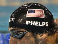 W wyścigu sztafet 4x100 m kraulem Amerykanie z Phelpsem w składzie byli dopiero trzeci (fot. PAP/EPA)