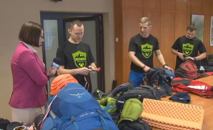 Trzech strażaków chce zdobyć zimą kaukaski pięciotysięcznik