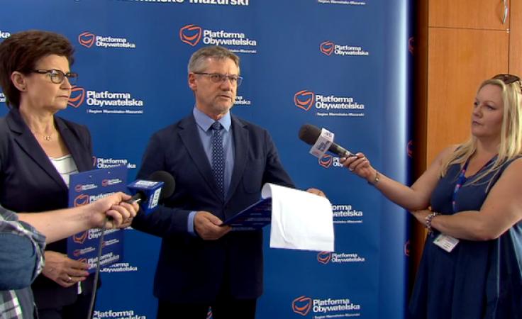 Z dziennikarzami spotkali się Anna Wasilewska oraz Janusz Cichoń