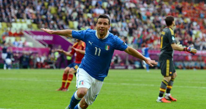 Antonio Di Natale strzelił gola na 1:0 dla Włochów (fot. Getty Images)