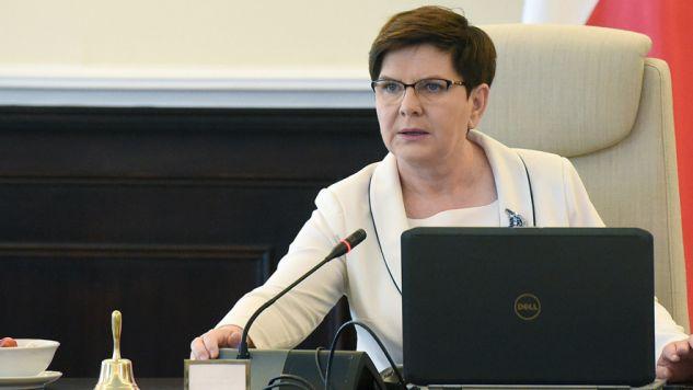 Premier Beata Szydło (fot. PAP/Radek Pietruszka)