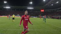 Mateusz Michalski  - strzelec pierwszej bramki na nowym stadionie. fot. Tomasz Nowak TVP Łódź