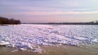 Wisła skuta lodem - widok na Fordon i Solec Kujawski (fot..Teresa Sobieraj)