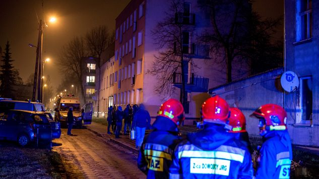 Mieszkańcy zostali ewakuowani (fot. PAP/Grzegorz Michałowski)