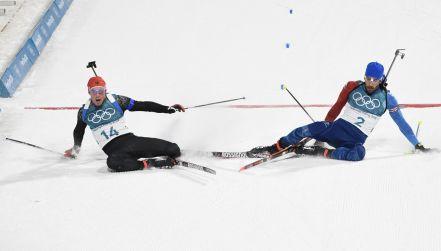 Biathlon: fotokomórka zadecydowała o zwycięstwie Fourcade'a