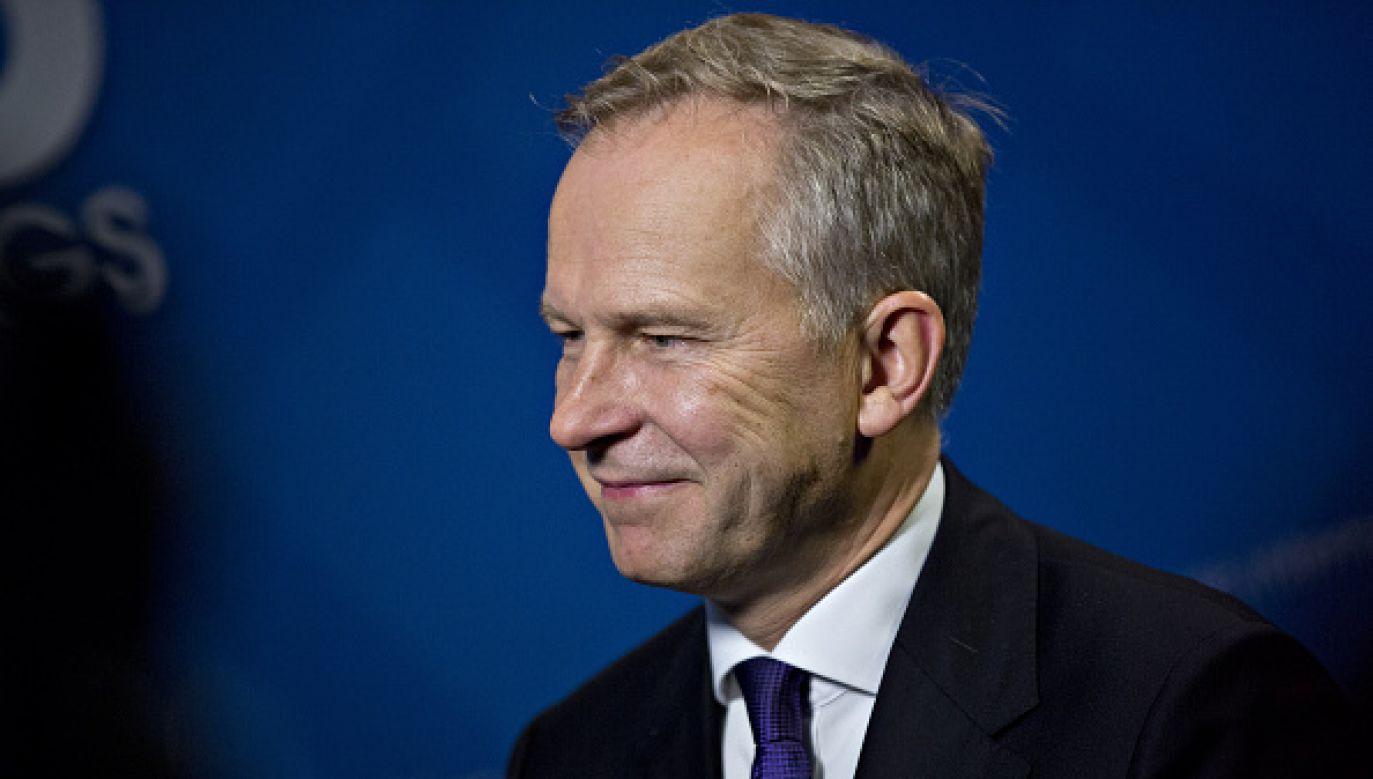Ilmars Rimszeviczs jest podejrzewany o wymuszenie łapówki.(fot. Andrew Harrer/Bloomberg via Getty Images)