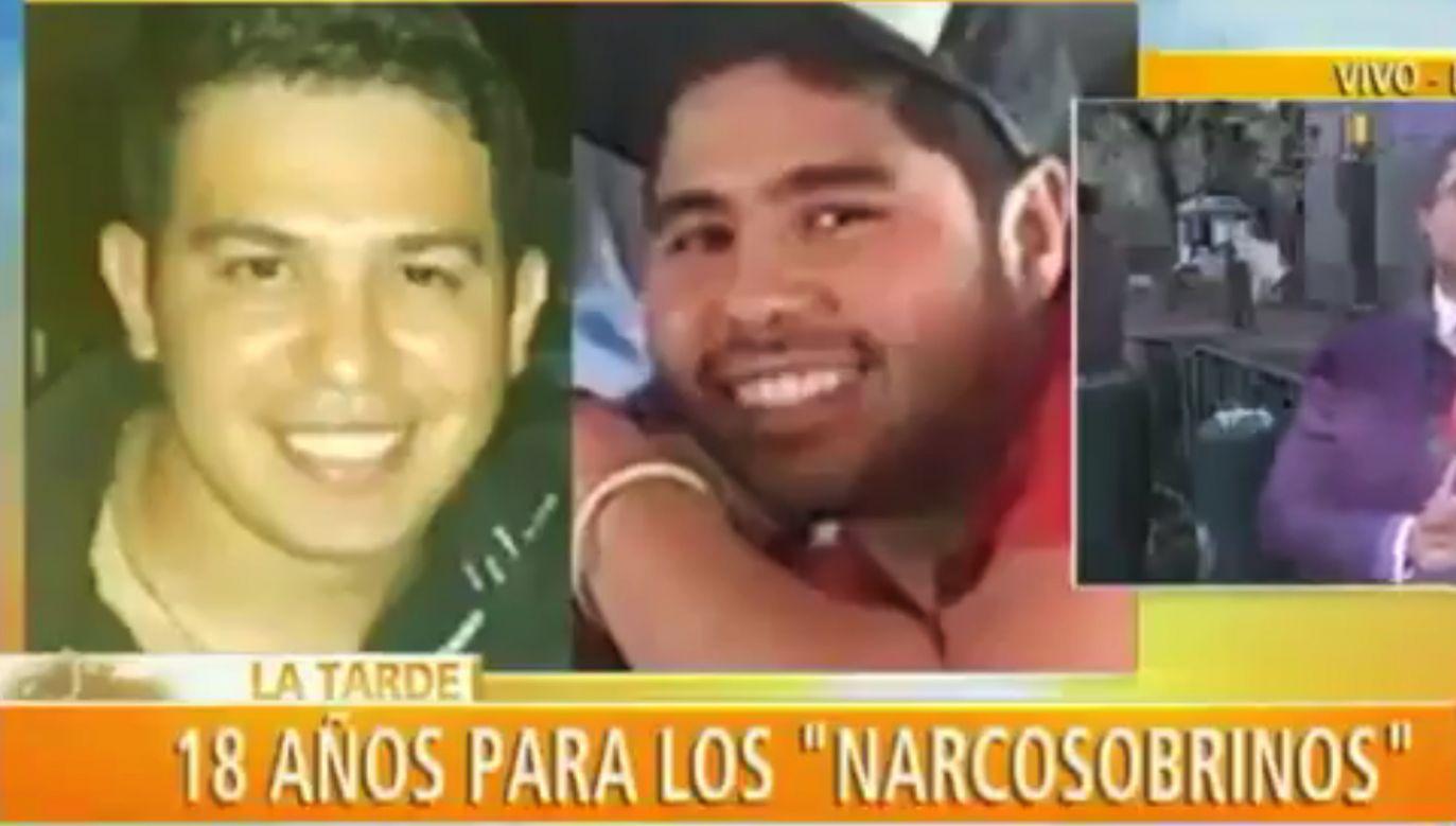 Efrain Campo i jego kuzyn Francisco Flores otrzymali wyroki po 18 lat więzienia (fot. TT/NTN24 Venezuela)
