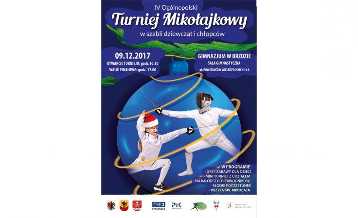 Ogólnopolski Turniej Mikołajkowy w szabli dziewcząt i chłopców