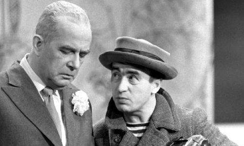 U boku Jerzego Wasowskiego w Kabarecie Starszych Panów w 1962 r. (fot. arch. TVP)