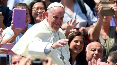 ŚDM- Ceremonia powitania papieża Franciszka