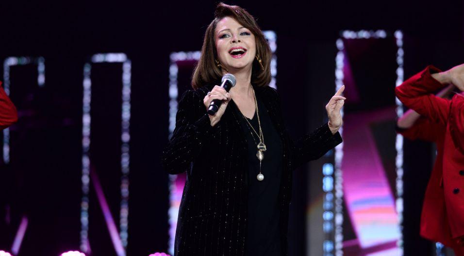 """Izabela Trojanowska zaśpiewała m.in. ponadczasowe """"Wszystko czego dziś chcę""""(fot. TVP)"""