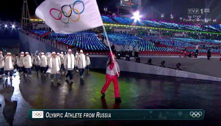 Ceremonia otwarcia: Rosjanie pod flagą olimpijską