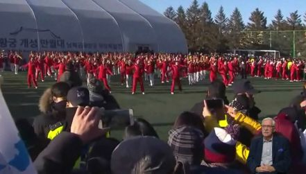 Koreańczycy z północy imponują dopingiem podczas igrzysk