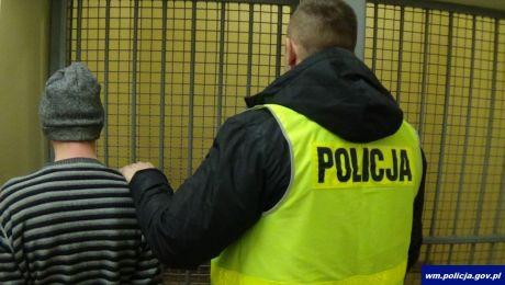 Prokurator wobec agresora zastosował środki zapobiegawcze (fot. KWP Olsztyn)